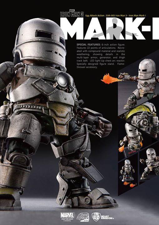 [Beast Kingdom] Iron Man 3 - Iron Man Mark I – Egg Attack Action 117