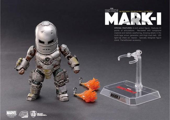 [Beast Kingdom] Iron Man 3 - Iron Man Mark I – Egg Attack Action 59-650x459
