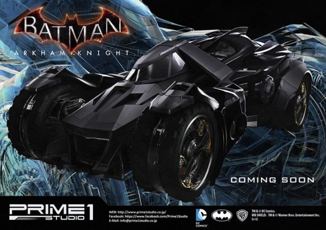 [Prime 1 Studio] Museum Vehicle | Batman: Arkham Knight - Batmobile Prime-1-Studio-Batmobile-e-Nightwing-2-650x459