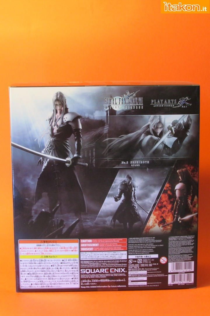 Link a recensione review sephiroth play arts kai da final fantasy vii advent children itakon.it -003