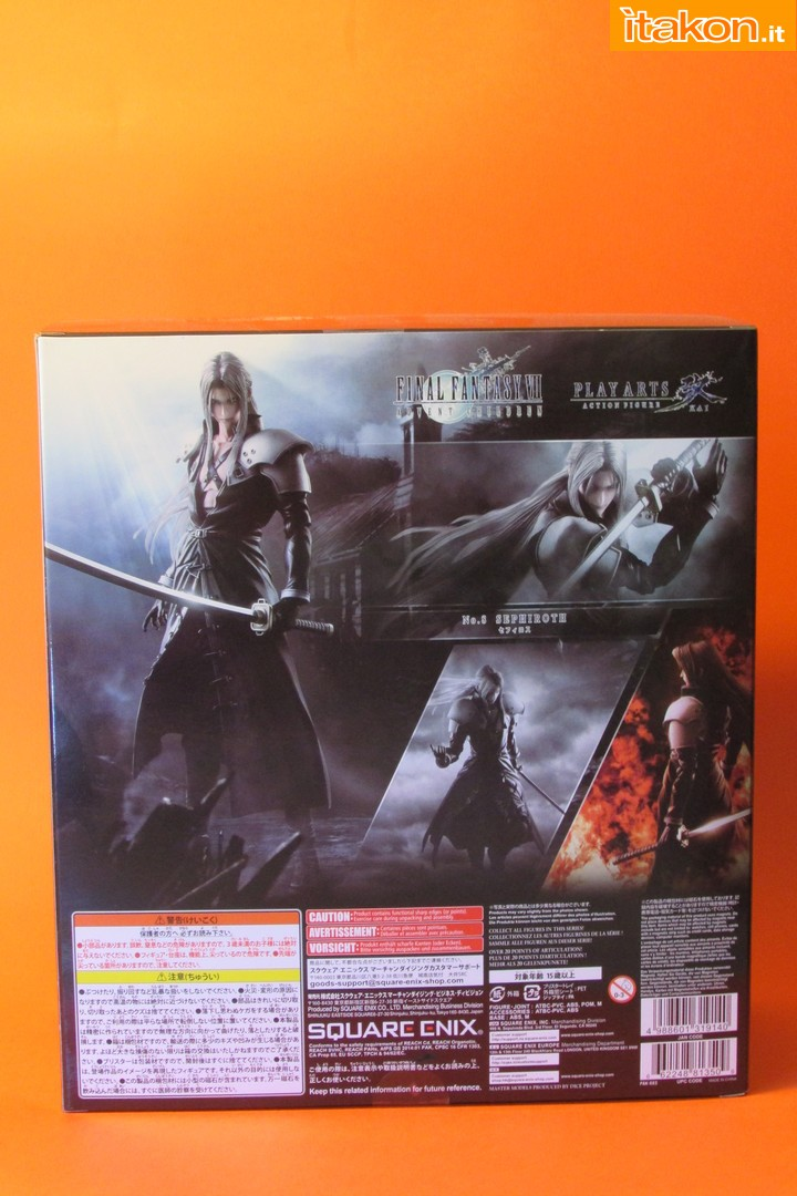 Link a recensione review sephiroth play arts kai da final fantasy vii advent children itakon.it -004
