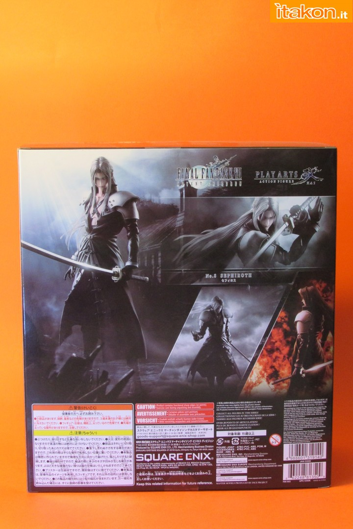 Link a recensione review sephiroth play arts kai da final fantasy vii advent children itakon.it -005