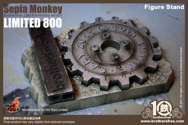 Hot Toys: Sepia Monkey (Brothersfree 10th Version)