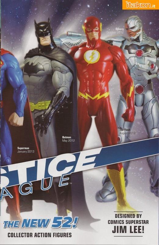 Justice League Action Figures: Superman, Batman, Green Lantern, Aquaman, The Flash, Cyborg e Wonder Woman.