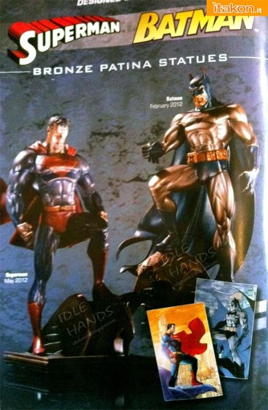 Superman e Batman Bronze Patina Statues