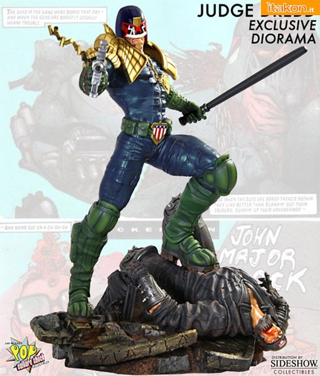 Pop Culture Shock: 1/4 Scale Judge Dredd Diorama - Foto Ufficiali e Info Preordini