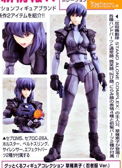 Gutto-Kuru Figure Kusanagi Motoko (Ghost in the Shell) CM's Corporation: