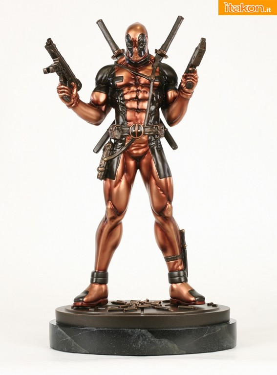Bowen Designs: Faux Bronze Deadpool statue WEBSITE EXCLUSIVE