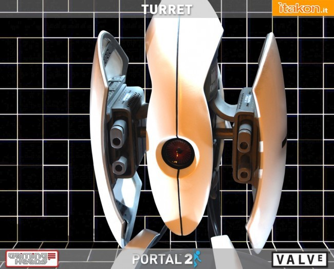 Gaming Heads: Portal 2 Turret - In preordine