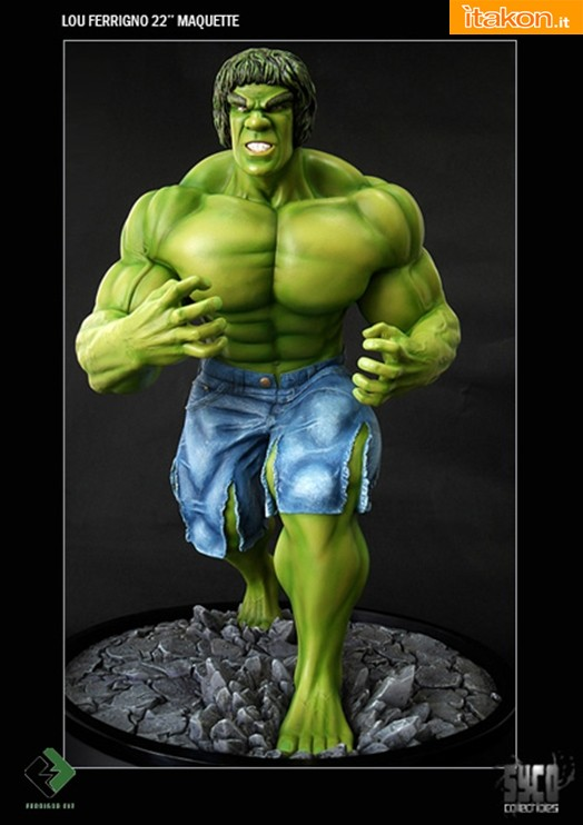 Syco Collectibles: Exclusive Lou Ferrigno Maquette - In Preordine