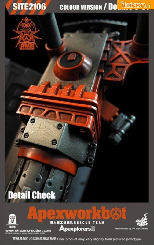 Winson Classic Creation/Hot Toys: Apexworkbot 1/6 Action Figures