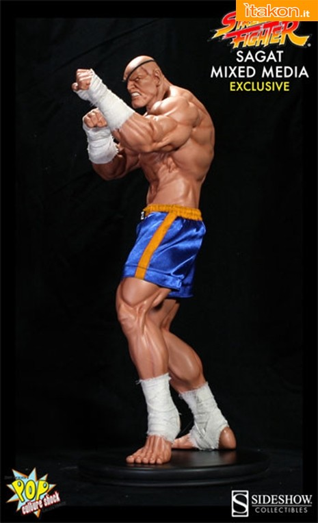 Pop Culture Shock: Street Fighter: Sagat 1:4 Mixed Media Statue- In Preordine