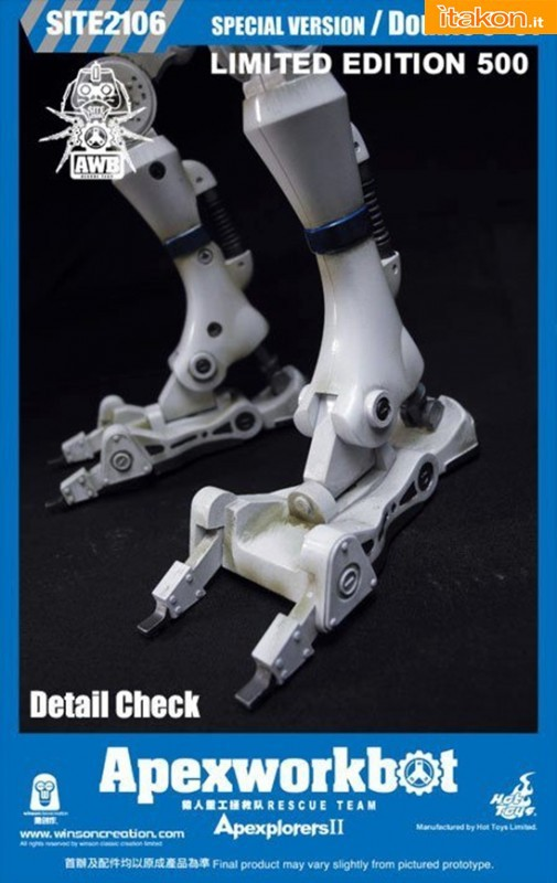 qWinson Classic Creation/Hot Toys: Apexworkbot 1/6 Action Figures