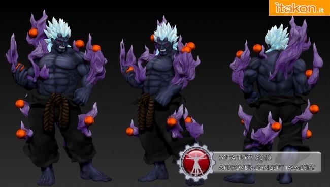 Sota Toys: Da Super Street Fighter IV Arcade Edition in arrivo la statua di Oni - Anteprima
