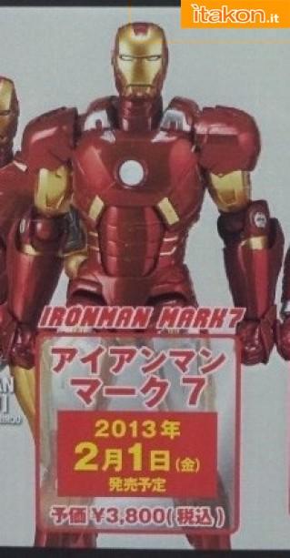 Revoltech Iron Man Mark VII da Kaiyodo - Anteprima