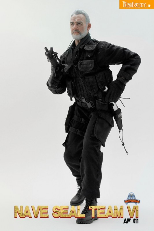 vThe Rock: L'action doll di John Patrick Mason(Sean Connery) dalla Art Figures