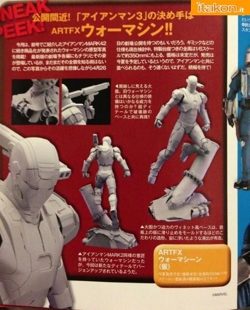Kotobukiya: Scan di Iron Patriot ARTFX 1/6 statue
