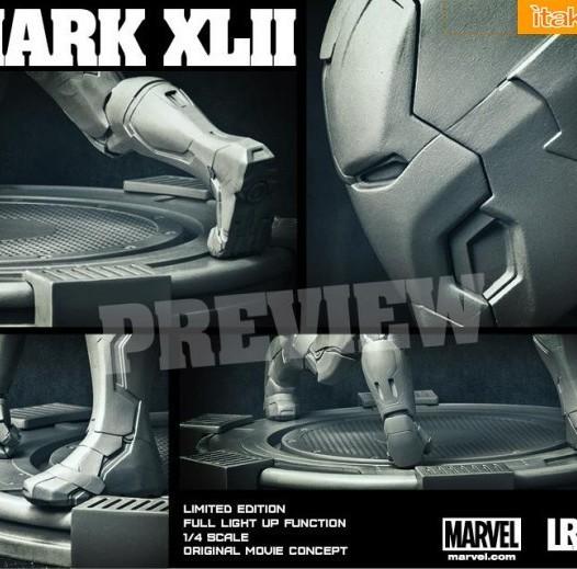 Iron Studios: Iron Man Mark XLII Legacy Replica 1/4 scale - Anteprima