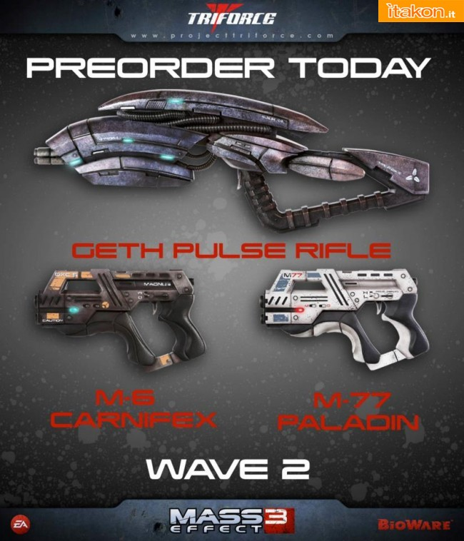 TriForce: Mass Effect 3 Weapon Replicas WAVE 2 - In Preordine