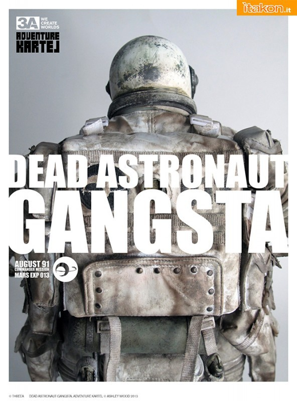 ThreeA Toys: THE ADVENTURE HEADS TO THE STARS - AK Dead Gangsta Astronaut 1/6
