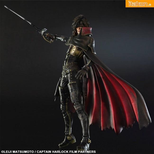 Square Enix: Capitan Harlock Play Arts Kai - Prime immagini ufficiali