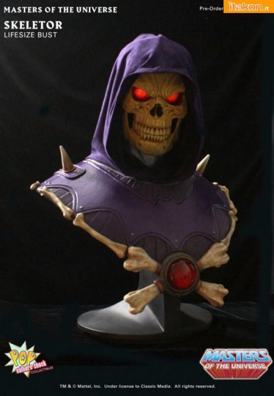 Skeletor Life Size Bust di Pop Culture Shock - Info Preordini