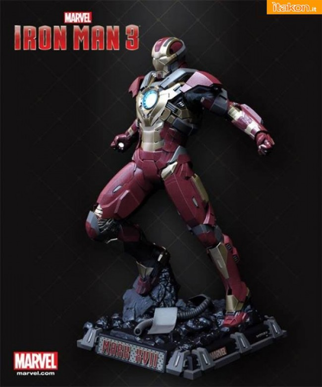 Iron Man 3: Iron Man Mark 17 scala 1/2 statue di Imaginarium Art