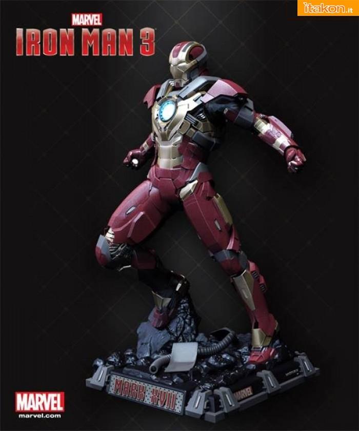 Iron Man 3: Iron Man Mark 17 scala 1/2 statue di Imaginarium Art