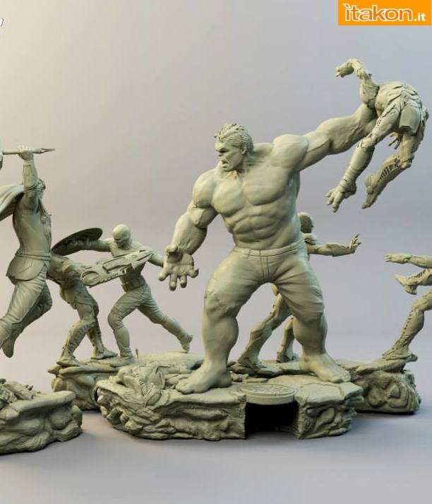 Iron Studios: Diorama The Avengers Battle Scene 1/6 01