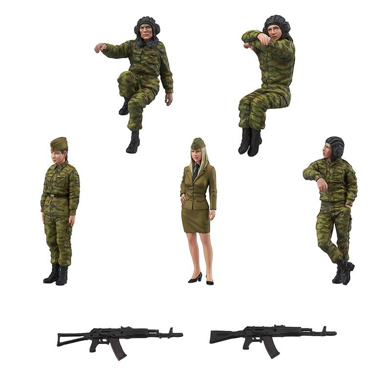 Link a PLAMAX 35-01 Modern Russia Tank Crew Set 01