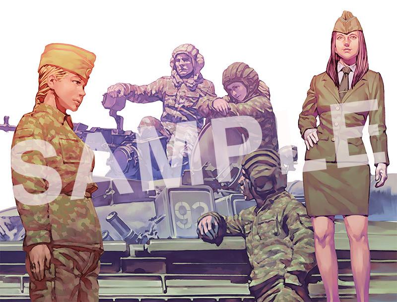 Link a PLAMAX 35-01 Modern Russia Tank Crew Set 02