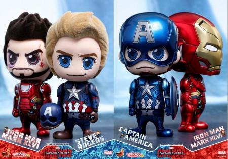 Hot Toys: Cosbaby Civil War Metallic Color Ver. e Steve Rogers ...