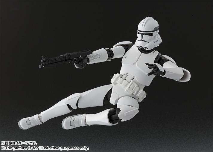 Link a Star Wars Clone Trooper SH Figuarts Bandai pics 05