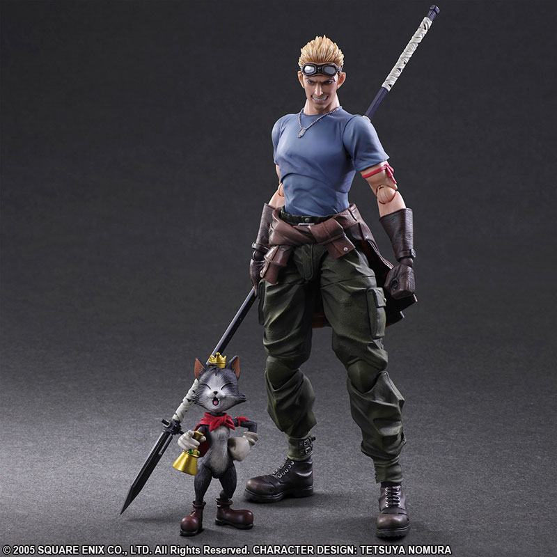 Link a Final Fantasy VII Advent Children Cid Highwind & Cait Sith Play Arts Kai Square Enix Itakon.it 01