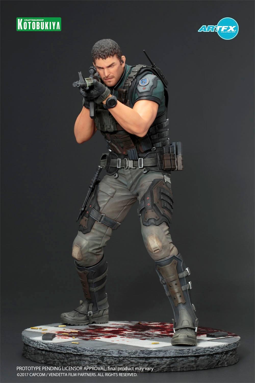 Link a Resident-Evil-Vendetta-Chris-Redfield-ARTFX-Statue