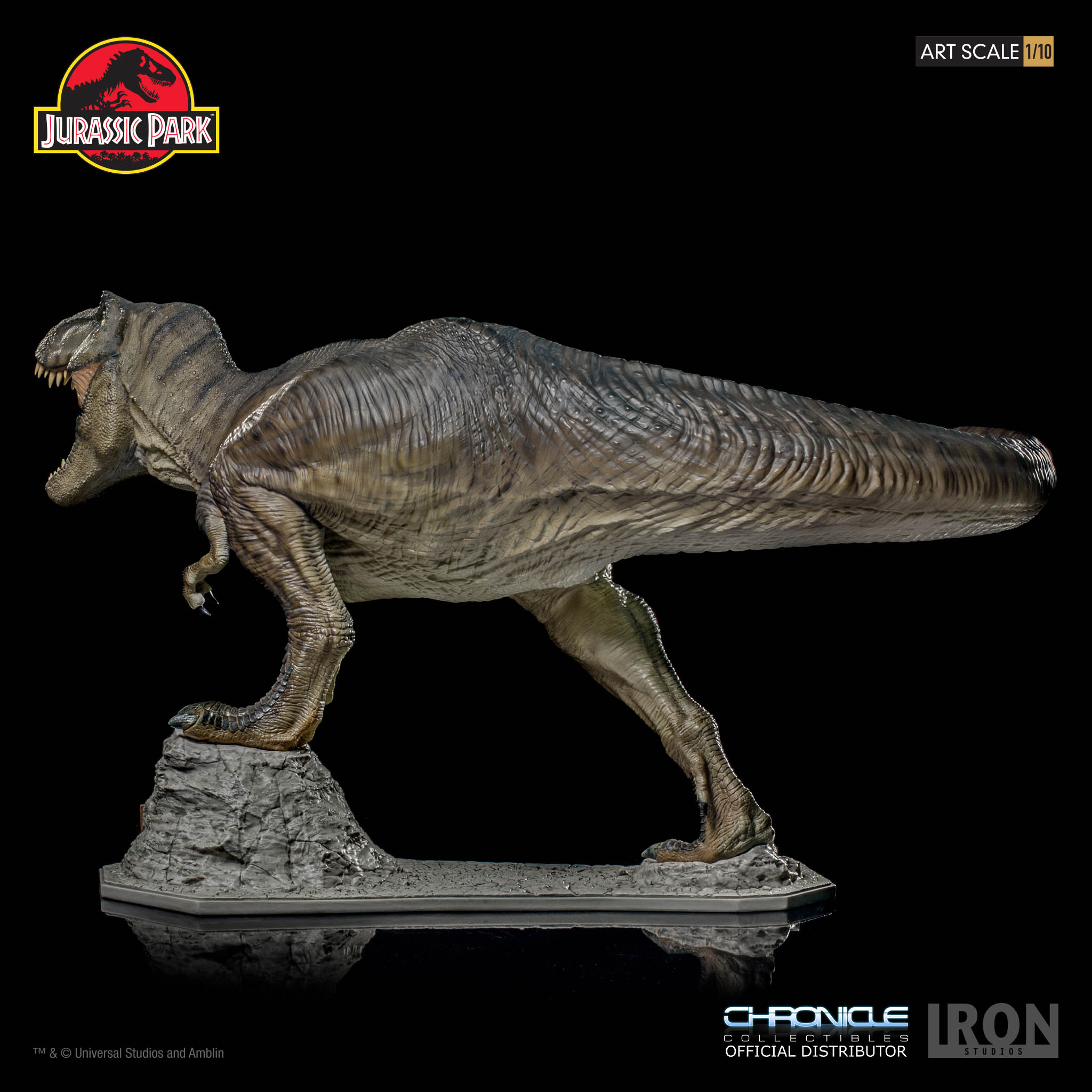 Link a Iron-Studios-T-Rex-Statue-005