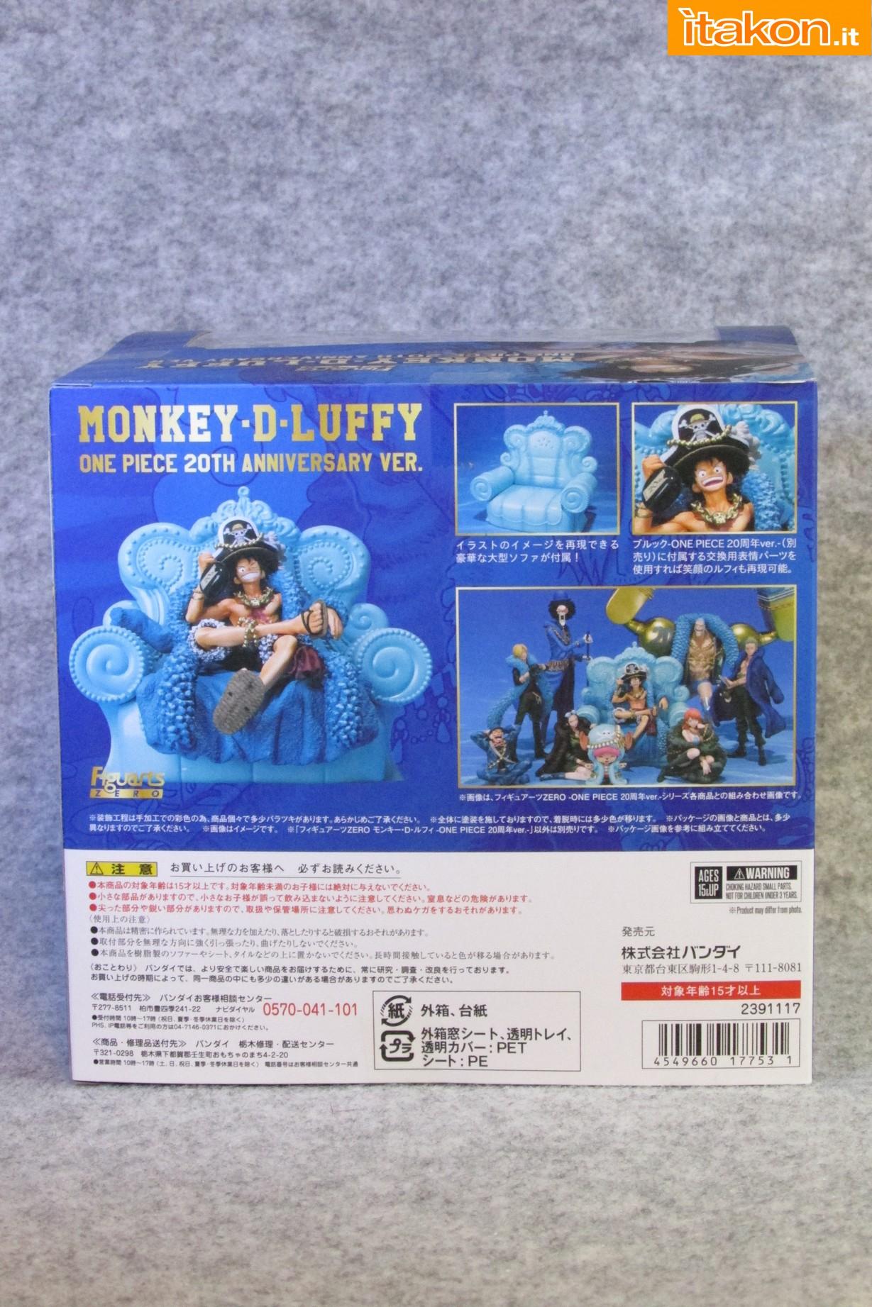 Link a Recensione Review Monkey D. Luffy One Piece 20th Anniversary ver. Figuarts ZERO di Bandai 02