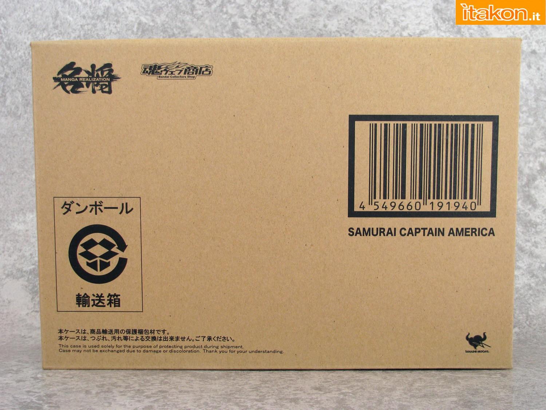 Link a 001 Samurai Captain America Manga Realization Bandai recensione