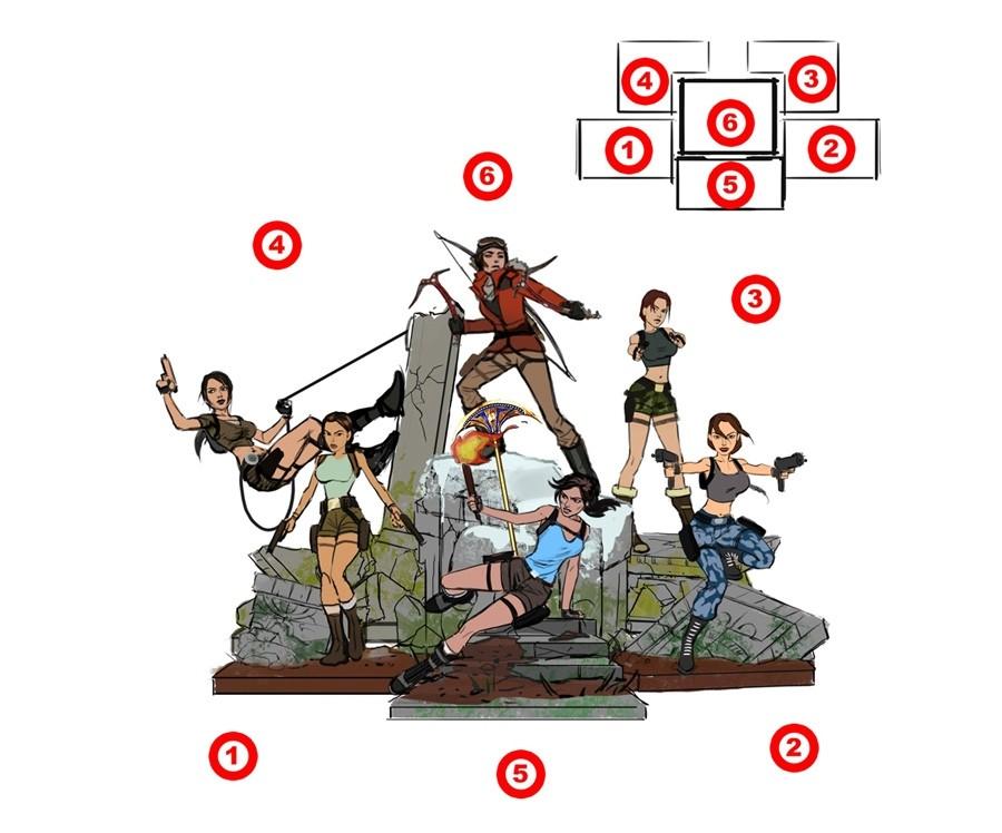 Link a tomb_raider_20_statues_sketches_cxcx2