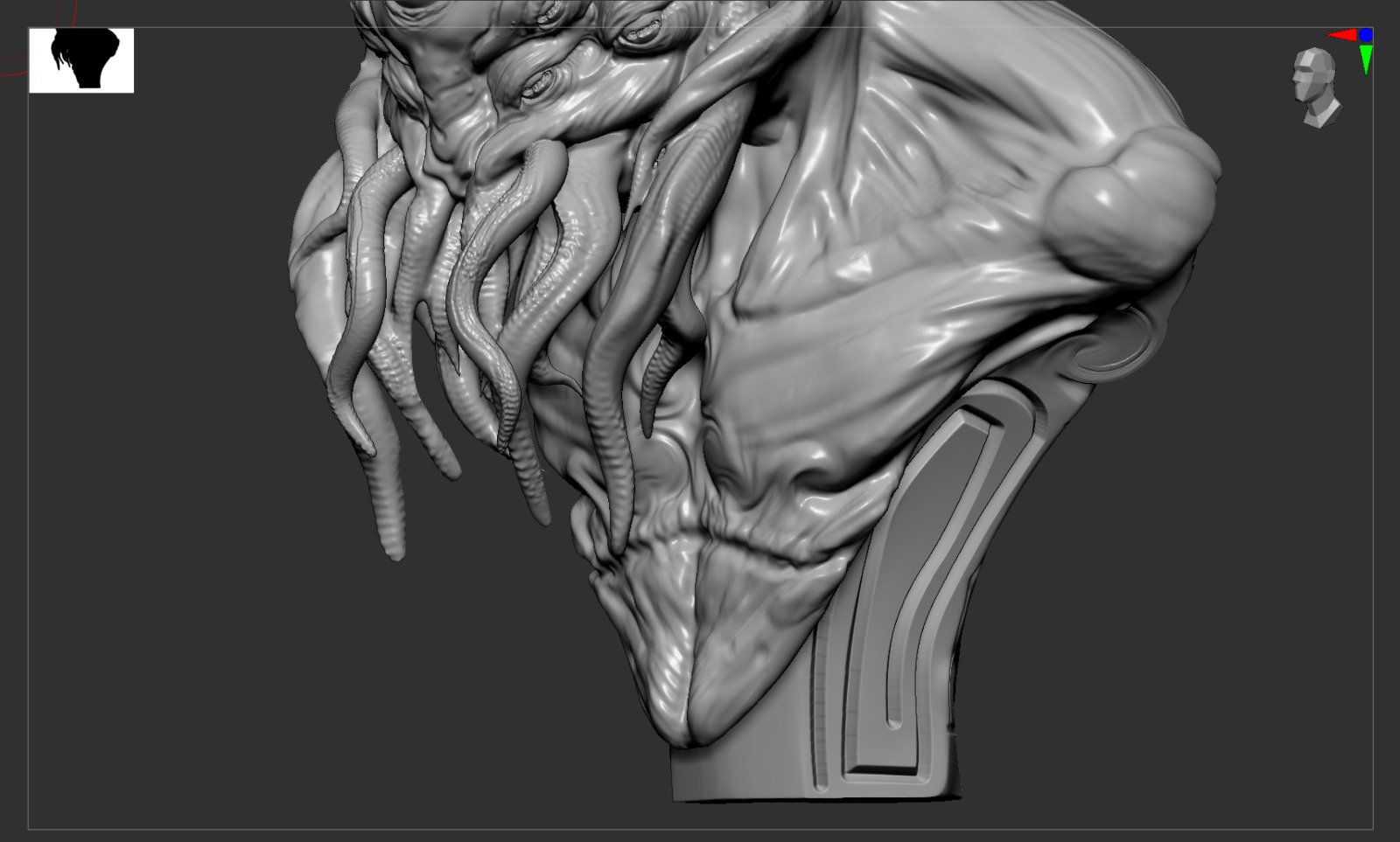 Link a Cthulhu – bust – caronte – render – 5