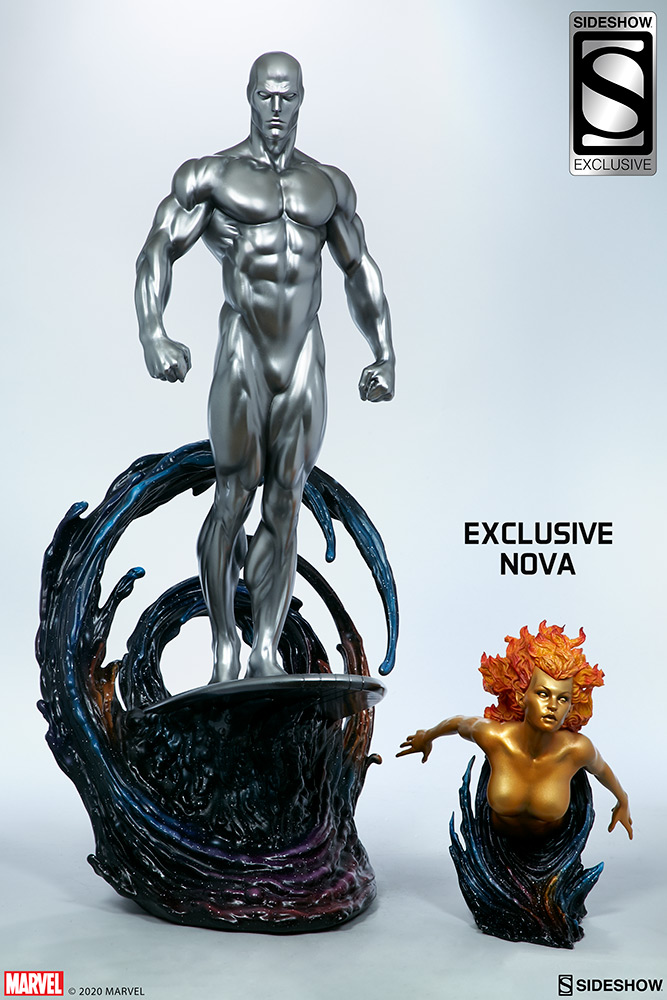 Link a Silver-Surfer-Maquette-Sideshow-Marvel-18