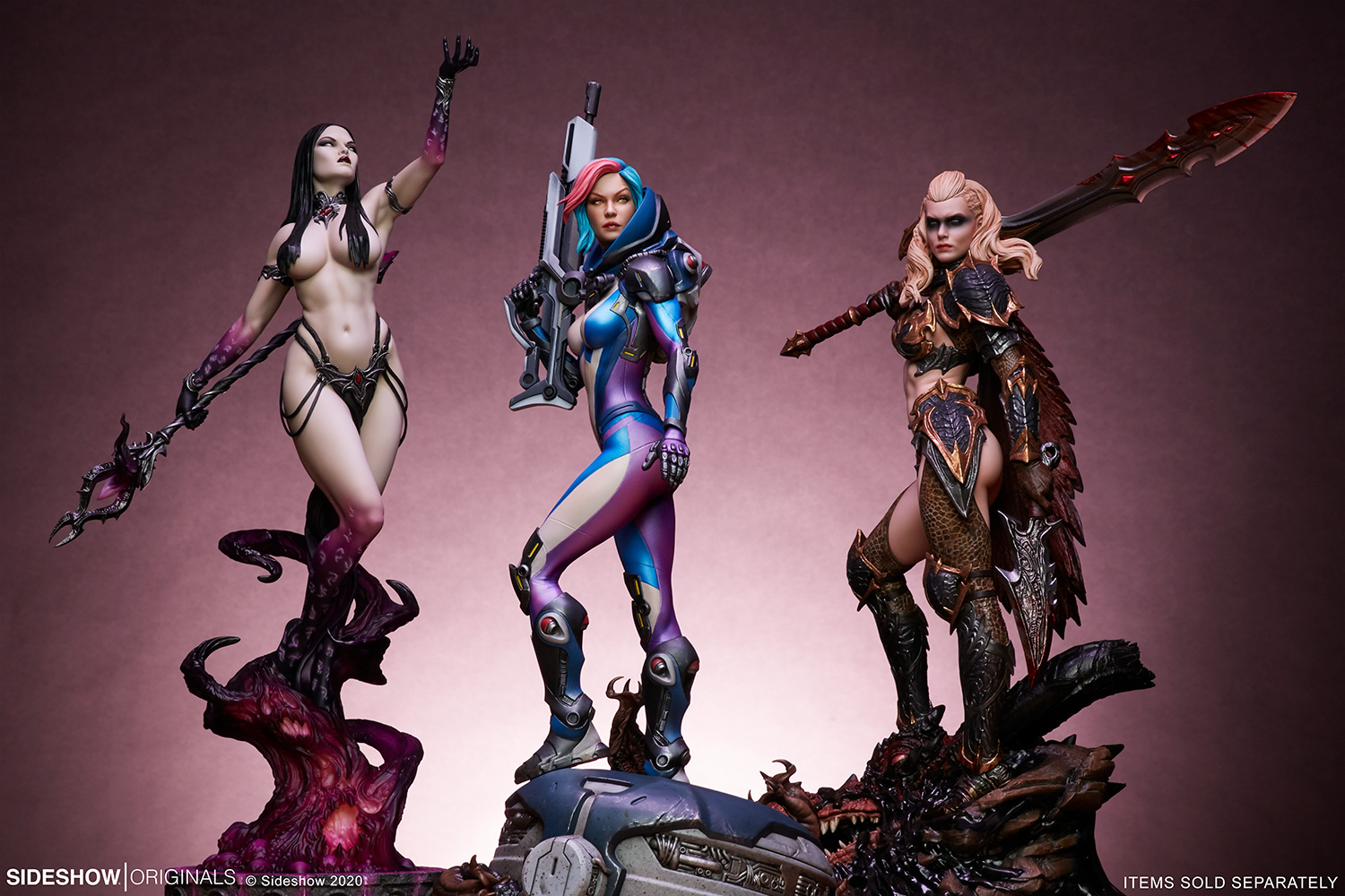 Link a The Dark Sorceress_ Guardian of the Void Statue_sideshow-20