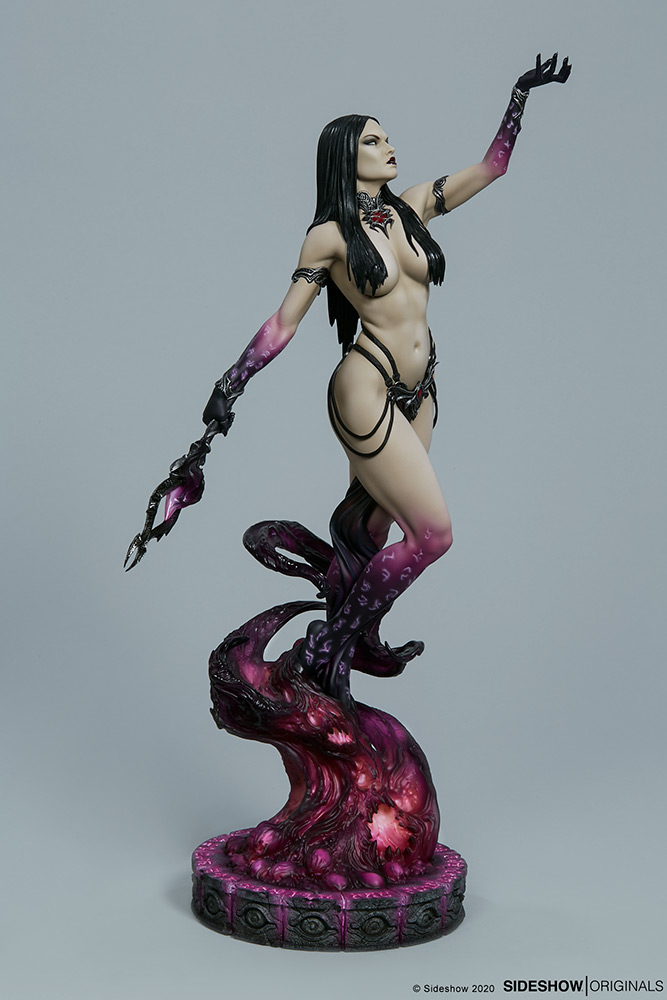 Link a The Dark Sorceress_ Guardian of the Void Statue_sideshow-4