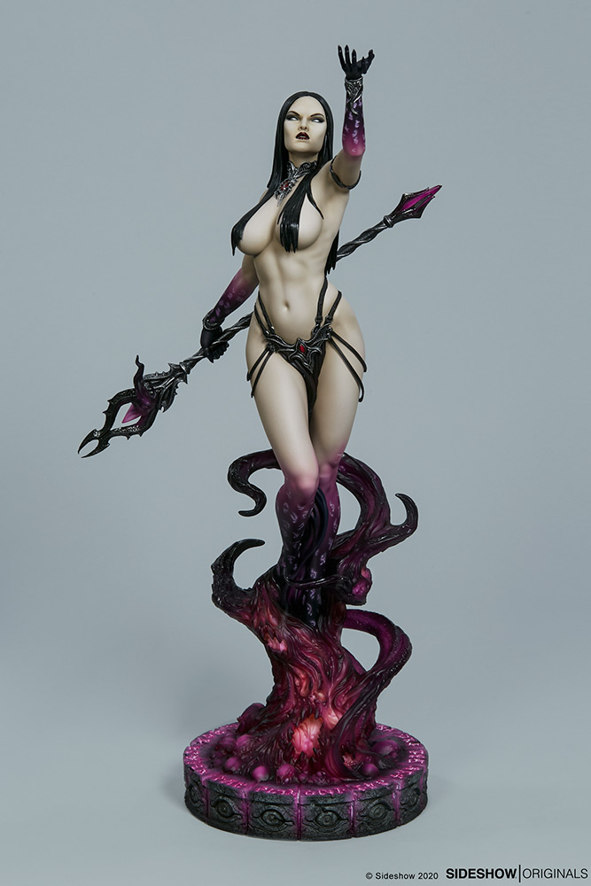 Link a The Dark Sorceress_ Guardian of the Void Statue_sideshow-8