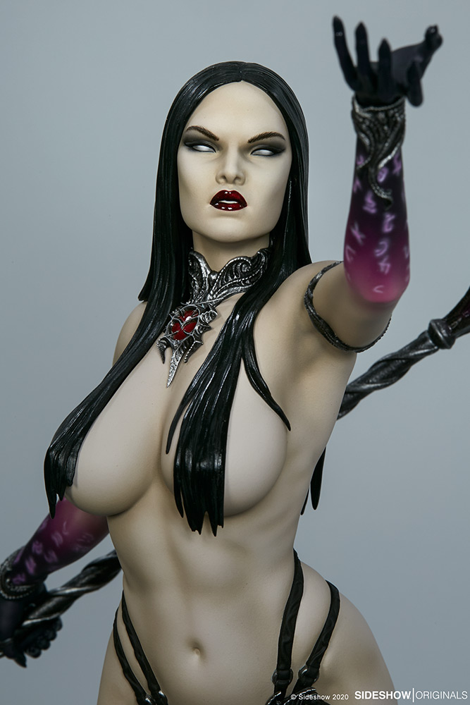Link a The Dark Sorceress_ Guardian of the Void Statue_sideshow-9