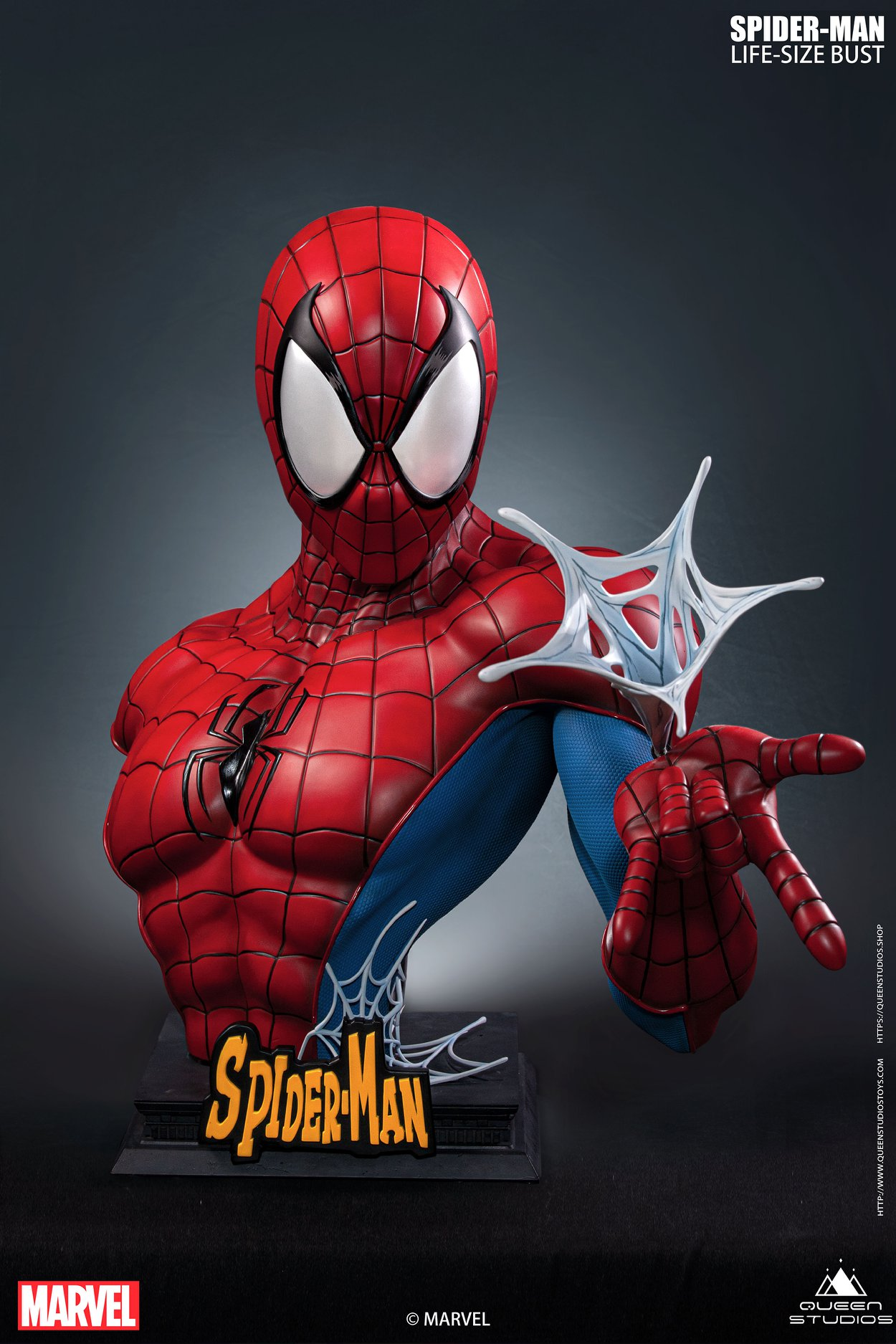 Link a Spider-Man_Life_Size_Bust_Comic_Marvel_Queen_Studios-3