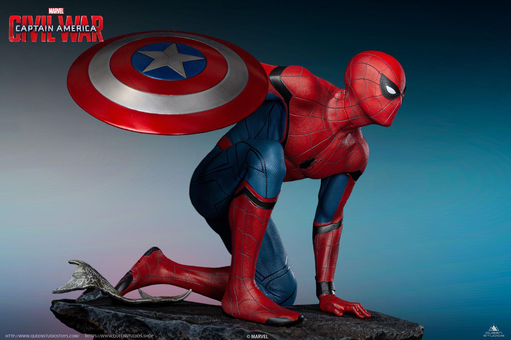 Link a Queen-Studios-Civil-War-Spider-Man-Statue-006