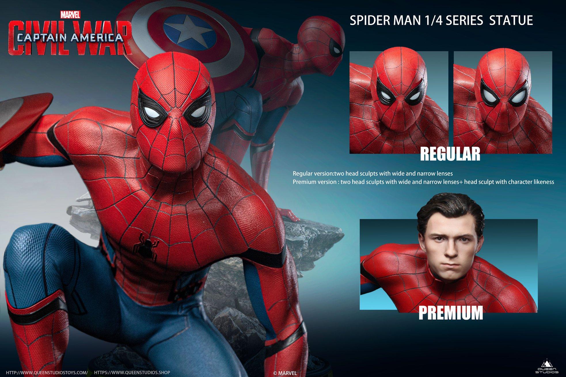 Link a Queen-Studios-Civil-War-Spider-Man-Statue-018