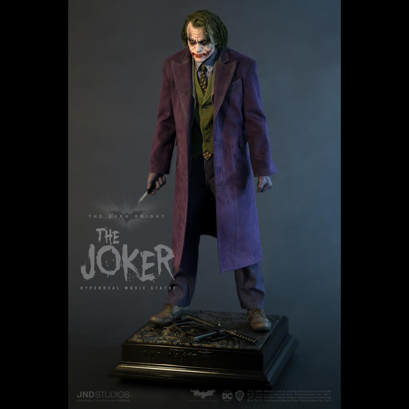 Link a JND Studios The Dark Knight The Joker Hyperreal Statue – (3)