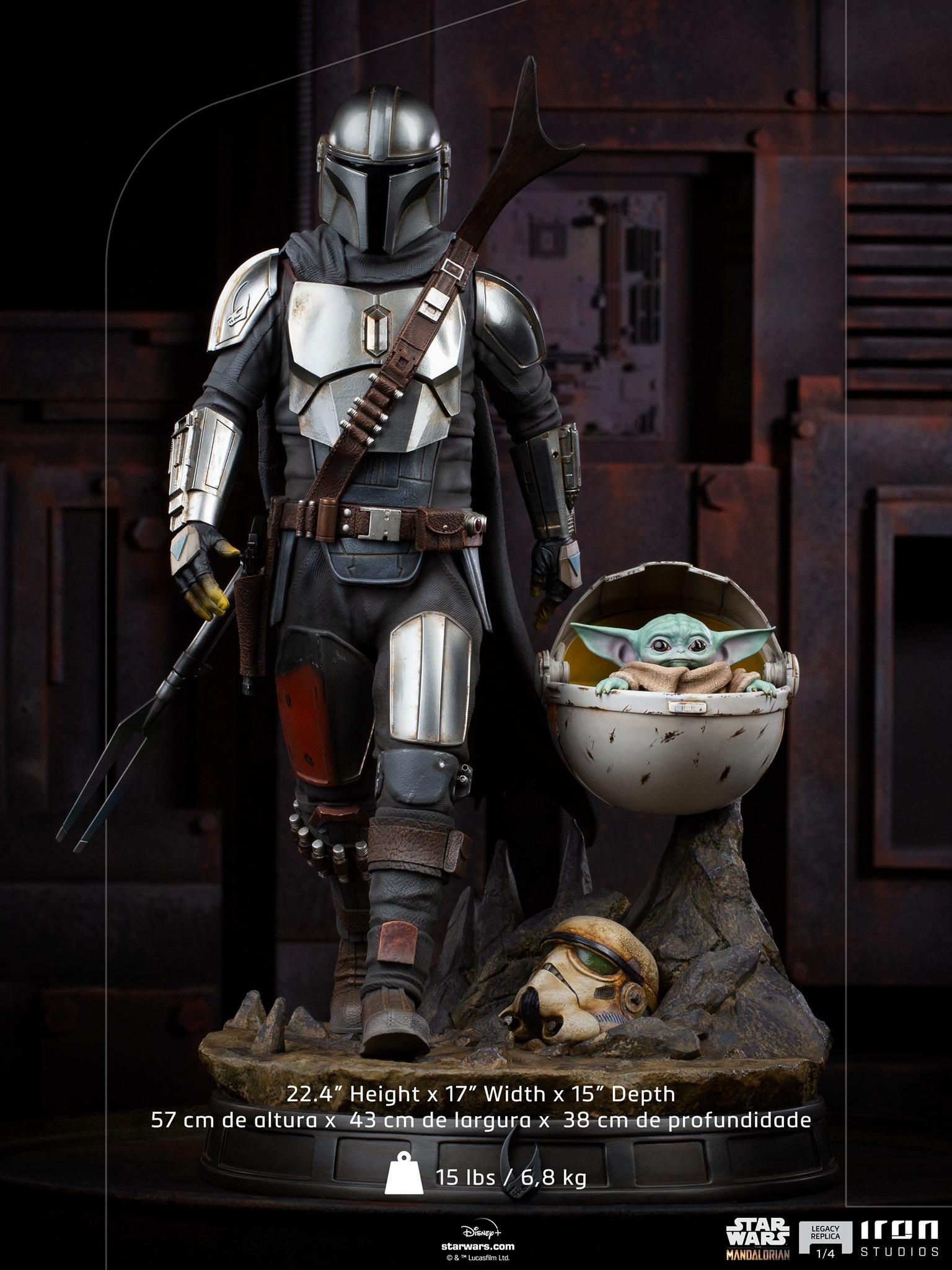 Link a Iron-Studios-Mandalorian-Statue-grogu-legacy replica- (4)